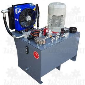 Zasilacz hydrauliczny do prasy z chłodnicą i kontrolą nacisku