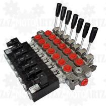 Rozdzielacz GALTECH 60l/min 7 sekcyjny manualno elektryczny