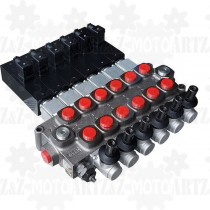 Rozdzielacz monoblokowy Q95 6-sekcyjny manualno-elektryczny 120l/min
