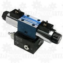 Rozdzielacz CETOP 3 12V z płytą NG6 (40-80 l/min) elektryczny
