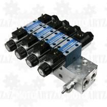 Rozdzielacz 4x CETOP 3 12V (4 SEKCJE NG6)