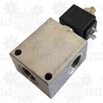 Elektrozawór hydrauliczny NABOJOWY 12V 140L G3/4 NC normalnie zamknięty