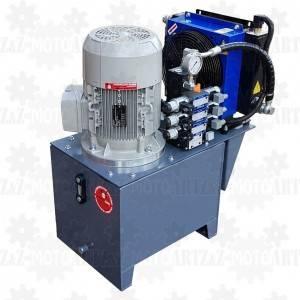 5,5kW Stacja hydrauliczna 400V  4 sekcje z chłodnicą