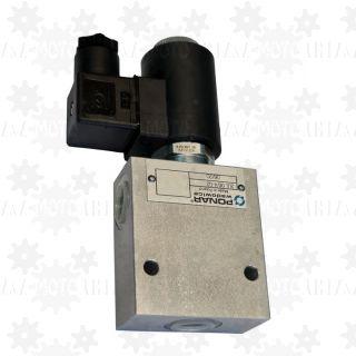 Elektrozawór zawór hydrauliczny 3 drożny przełączający z cewką 24V