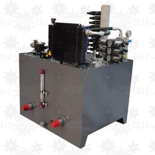 Stacja hydrauliczna przemysłowa 500L trójfazowa z chłodnicą