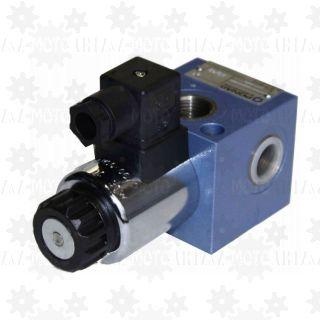 Dzielnik strumienia elektryczny oleju hydraulicznego 3/2URER6  50l/min 24V