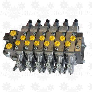 Rozdzielacz proporcjonalny 6 sekcyjny do dźwigu HDS o zmiennym wydatku z LS 12V 24V leśnego żurawia PWM