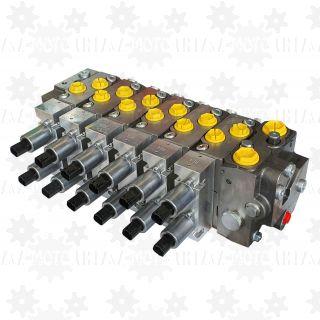 Rozdzielacz proporcjonalny 6 sekcyjny do dźwigu HDS o zmiennej wydajności z LS 12V 24V leśnego żurawia PWM