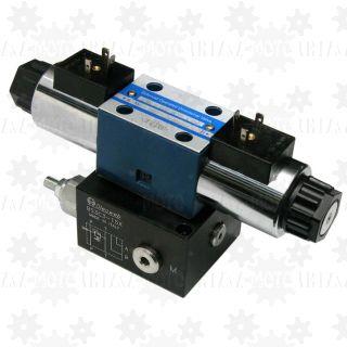 Rozdzielacz CETOP 3 24V z płytą NG6 (40-80 l/min) elektryczny