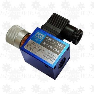 Czujnik przekaźnik ciśnienia oleju hydraulicznego regulowany FOX 20-200 BAR