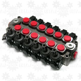 Rozdzielacz hydrauliczny GALTECH Q45 6-sekcyjny 60l/min