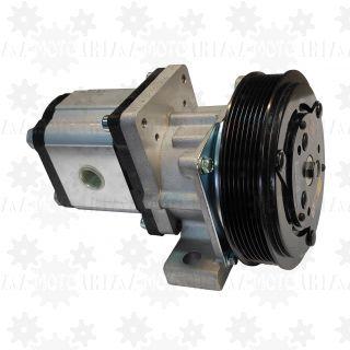 Pompa hydrauliczna 25l/min z elektrosprzęgłem 24V i kołem pasowym PK7 do piaskarki