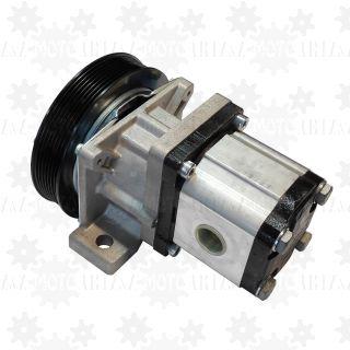 Pompa hydrauliczna 20l/min ze sprzęgłem elektrycznym 12V i kołem pasowym PK7 do piaskarki SPRINTERA