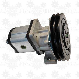 Pompa hydrauliczna 20l/min sterowana 24V z kołem na paski klinowe napędzana od silnika