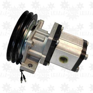 Pompa hydrauliczna 16l/min ze sprzęgłem 12V koło pasowe na paski klinowe